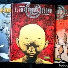 Cómics: EL EMPERADOR DEL OCÉANO (3 TOMOS - COMPLETA) BARANKO - NORMA 2005 - 32 X 24 CM. ''MUY BUEN ESTADO''. Lote 231934825