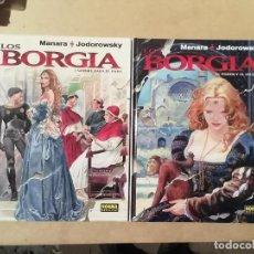 Cómics: LOS BORGIA : 1 SANGRE PAPA + 2 PODER INCESTO - MANARA JODOROWSKY - 1ª EDICIÓN NORMA EDITORIAL -(L). Lote 235080435