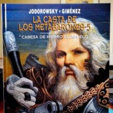 Cómics: LA CASTA DE LOS METABARONES 5 - CABEZA DE HIERRO EL ABUELO (JODOROWSKY) NORMA 2000 ''EXCELENTE ESTAD. Lote 235410525