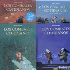 Cómics: LOS COMBATES COTIDIANOS 1, 2, 3 Y 4 DE MANU LARCENET. OBRA COMPLETA. NORMA.. Lote 236798130