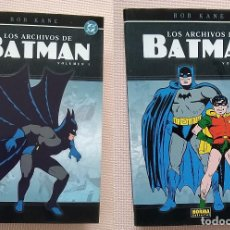 Cómics: LOS ARCHIVOS DE BATMAN LOTE 2: VOL 1 Y 2 NORMA EDITORIAL TAPA DURA. Lote 236956810