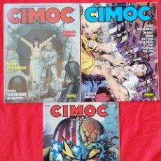 Cómics: CIMOC - LOTE Nº4 DE 3 REVISTAS, NÚMEROS : 120,124 Y 146 - ALGÚN DEFECTO, VER DESCRIPCIÓN - PJRB. Lote 238673955