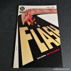 Comics: DC COMICS FLASH GALERIA DE VILLANOS NORMA EDITORIAL GEOFF JOHNS COMO NUEVO. Lote 240584710