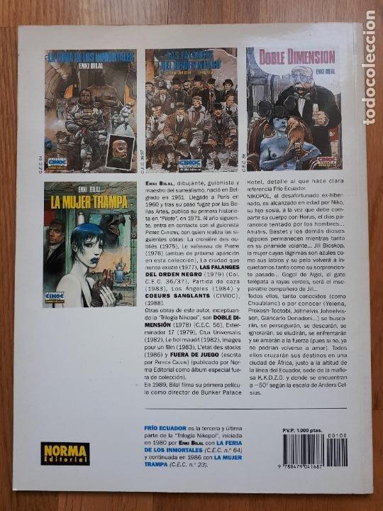 Cómics: Frío Ecuador - Enki Bilal - Norma - Extra Color Nº 100 - 1993 - Foto 2 - 241387165