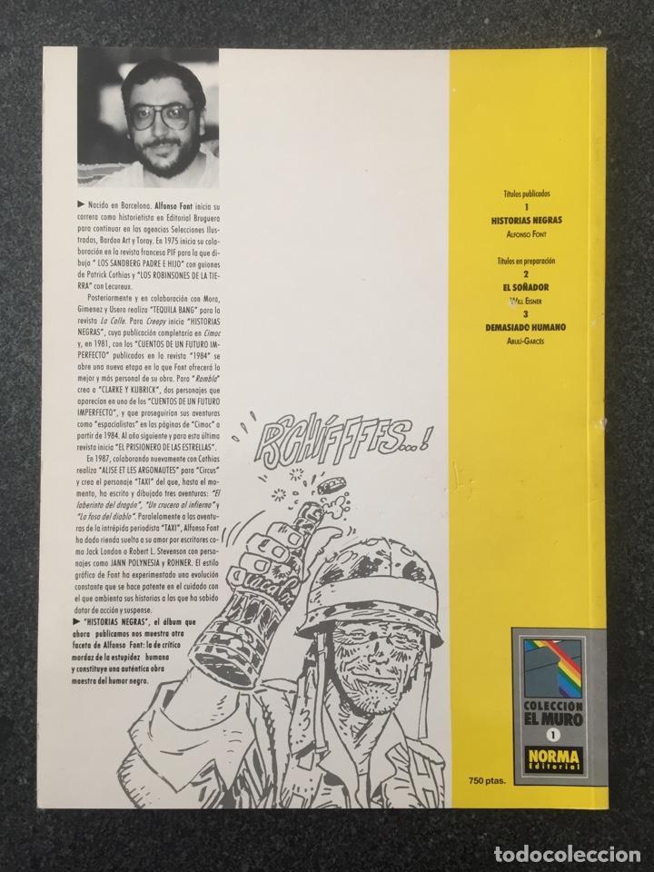 Cómics: HISTORIAS NEGRAS - ALFONSO FONT - COL. EL MURO Nº 1 - 1ª EDICION - NORMA - 1990 - ¡COMO NUEVO! - Foto 2 - 243578280