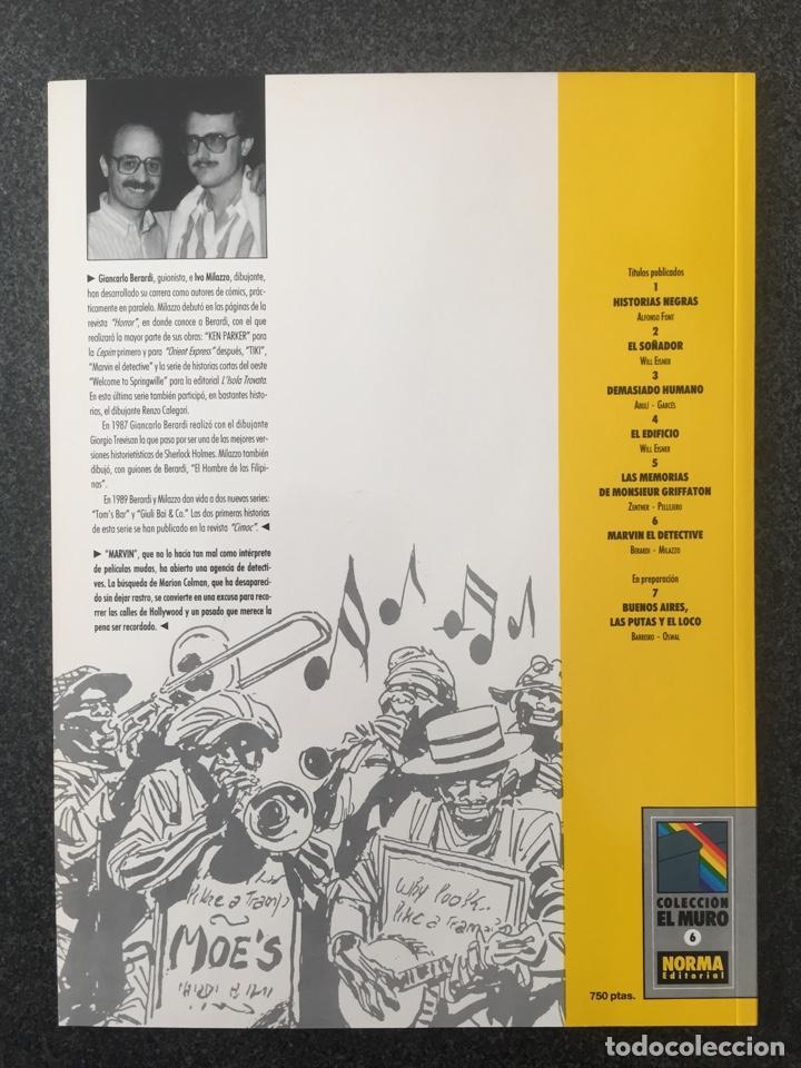 Cómics: MARVIN EL DETECTIVE - BERARDI / MILAZZO - COL. EL MURO Nº 6 - 1ª EDICION - NORMA - 1990 - ¡NUEVO! - Foto 2 - 243582120