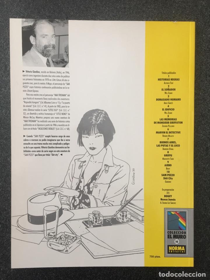 Cómics: SAM PEZZO - SHIT CITY - GIARDINO - COL. EL MURO Nº 10 - 1ª EDICION - NORMA - 1991 - ¡NUEVO! - Foto 2 - 243584610