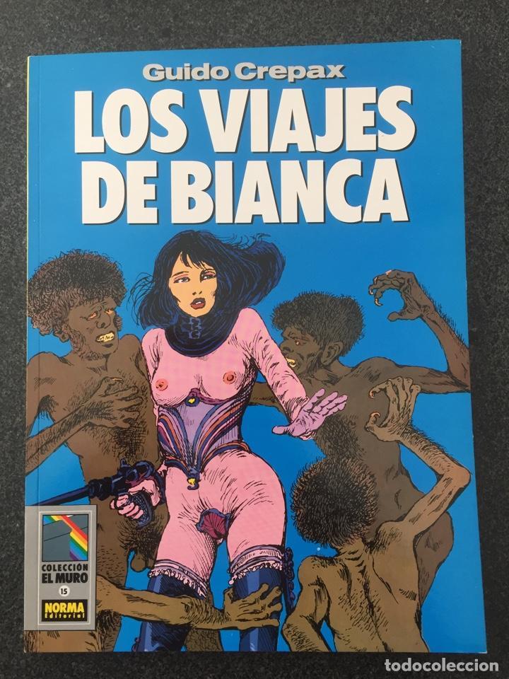 LOS VIAJES DE BIANCA - CREPAX - COL. EL MURO Nº 15 - 1ª EDICION - NORMA - 1991 - ¡NUEVO! (Tebeos y Comics - Norma - Comic Europeo)