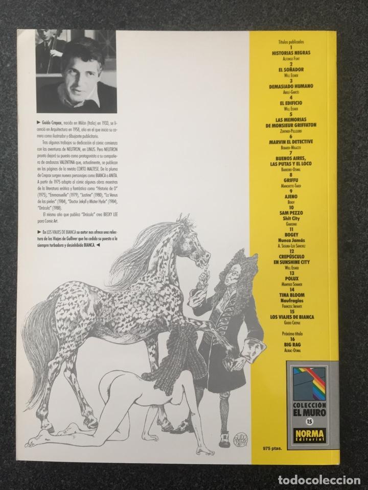 Cómics: LOS VIAJES DE BIANCA - CREPAX - COL. EL MURO Nº 15 - 1ª EDICION - NORMA - 1991 - ¡NUEVO! - Foto 2 - 243614265