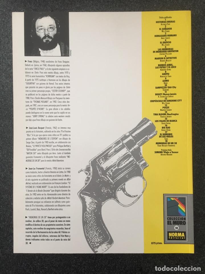 Cómics: MEMORIAS DE UN 38 - COL. EL MURO Nº 18 - 1ª EDICION - NORMA - 1991 - ¡NUEVO! - Foto 2 - 243615715