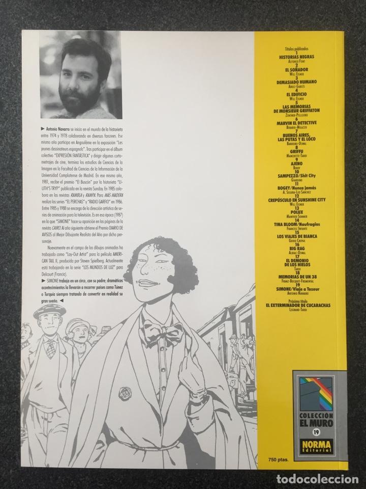 Cómics: SIMONE - ANTONIO NAVARRO - COL. EL MURO Nº 19 - 1ª EDICION - NORMA - 1991 - ¡NUEVO! - Foto 2 - 243616495