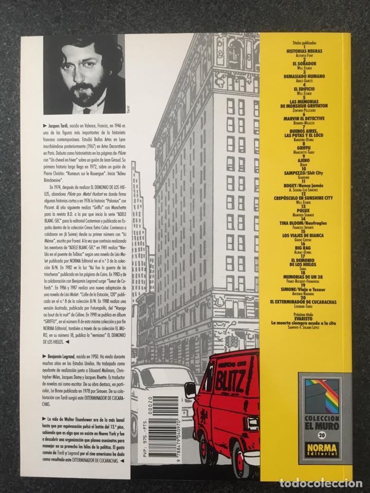 Cómics: EL EXTERMINADOR DE CUCARACHAS - COL. EL MURO Nº 20 - 1ª EDICION - NORMA - 1991 - ¡COMO NUEVO! - Foto 2 - 243617185