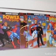 Cómics: POWER & GLORY COMPLETA 4 NUMEROS HOWARD CHAYKIN - NORMA. Lote 244543280