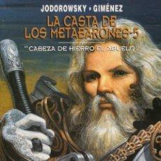 Cómics: LA CASTA DE LOS METABARONES Nº 5 CABEZA DE HIERRO EL ABUELO - NORMA - CARTONE - IMPECABLE - OFM15. Lote 244715430