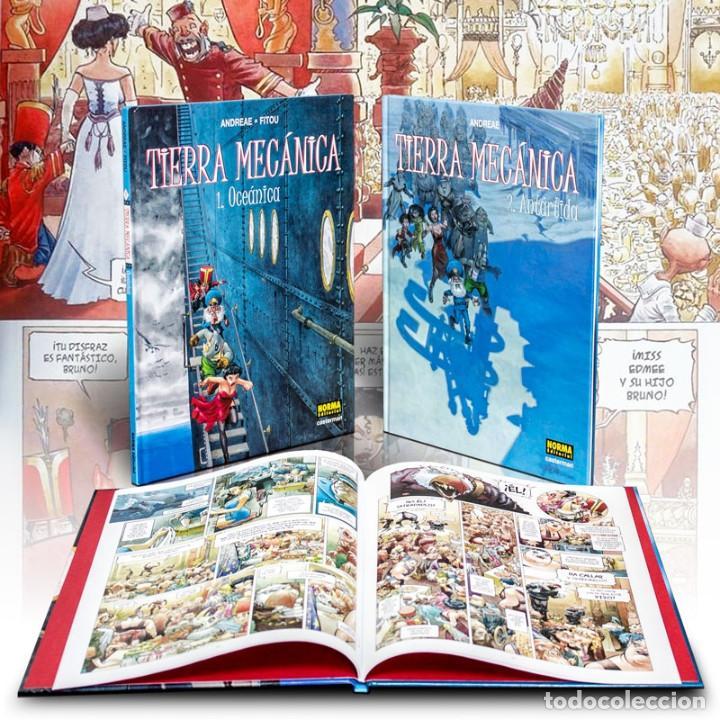 TIERRA MECÁNICA. 2 CÓMICS - ANDREAE/FITOU (CARTONÉ) DESCATALOGADO!!! OFERTA!!! (Tebeos y Comics - Norma - Comic Europeo)