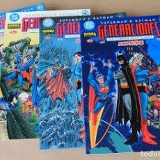 Cómics: SUPERMAN & BATMAN - GENERACIONES 1 2 3 4 - JOHN BYRNE - COMPLETA – NUEVO (PRECINTADOS). Lote 246455360