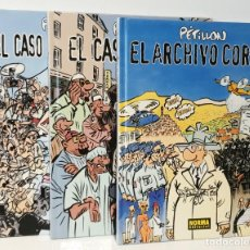 Comics : PÉTILLON NORMA EDITORIAL LOTE 3 COMICS EL ARCHIVO CORSO-EL CASO DEL VELO-EL CASO DE LA TOP MODEL. Lote 246479370