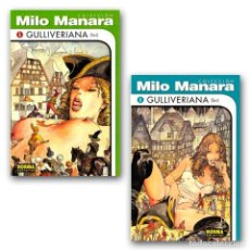 Cómics: GULLIVERIANA. 2 CÓMICS - MILO MANARA DESCATALOGADO!!! OFERTA!!!. Lote 246487520