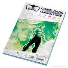 Cómics: BOLSAS PARA COMICS CURRENT ULTIMATE GUARD CIERRE REUTILIZABLE TAMAÑO COMIC GRAPA 17,5 X 26,8 CM. Lote 251788320