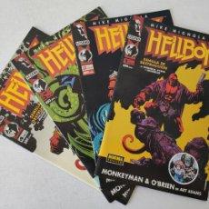 Cómics: 4 COMICS - HELLBOY - SEMILLA DE DESTRUCCIÓN - SERIE COMPLETA - NORMA EDITORIAL - MIKE MIGNOLA. Lote 254292810