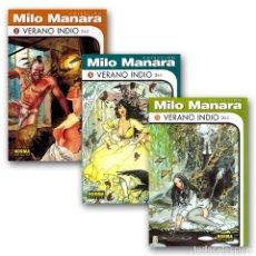 Cómics: VERANO INDIO. 3 CÓMICS - HUGO PRATT/MILO MANARA DESCATALOGADO!!! OFERTA!!!. Lote 257340365