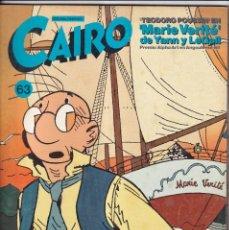 Cómics: CAIRO - NÚMERO 63 - NORMA EDITORIAL. Lote 257875510