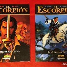 Cómics: EL ESCOPRPIÓN 1 Y 2 - MARINI - NORMA. Lote 258182350