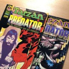 Cómics: COMPLETA TARZAN VERSUS PREDATOR EN EL CENTRO DE LA TIERRA. Lote 260870515