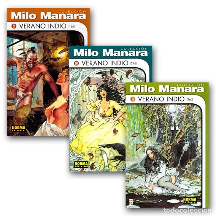 VERANO INDIO. 3 CÓMICS - HUGO PRATT/MILO MANARA DESCATALOGADO!!! OFERTA!!! (Tebeos y Comics - Norma - Comic Europeo)