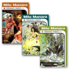 Cómics: VERANO INDIO. 3 CÓMICS - HUGO PRATT/MILO MANARA DESCATALOGADO!!! OFERTA!!!. Lote 261555065