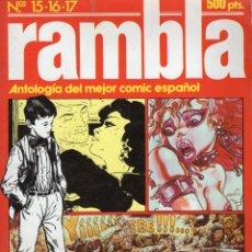 Cómics: RAMBLA RETAPADO Nº 6 CON LOS NUMEROS 15 A 17 - OFM15. Lote 262283070