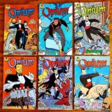 Comics : OPIUM (NORMA, 1989) DE DANIEL TORRES. COLECCIÓN COMPLETA NÚMEROS 1 AL 6.. Lote 265407184