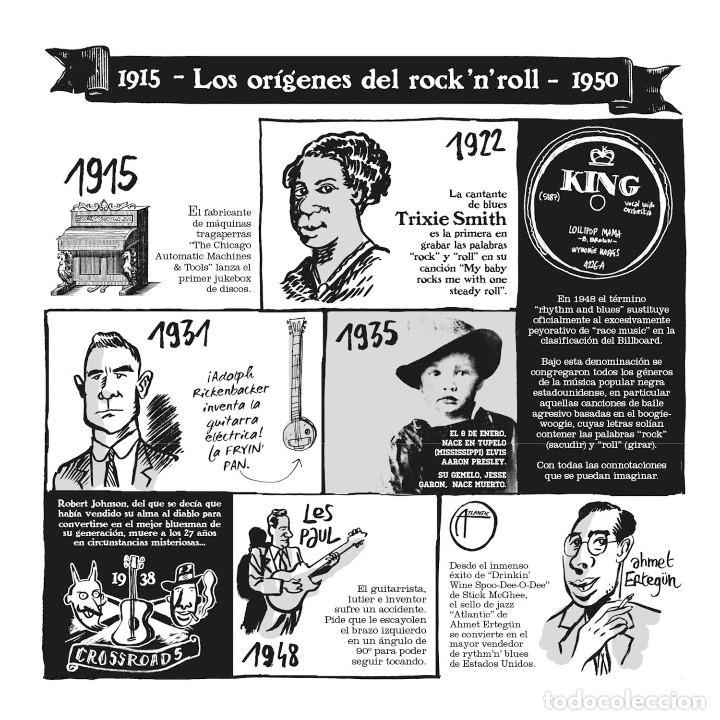 Cómics: Cómics. EL PEQUEÑO LIBRO DEL ROCK. EDICIÓN AMPLIADA - Hervé Bourhis (Cartoné) - Foto 2 - 266885259