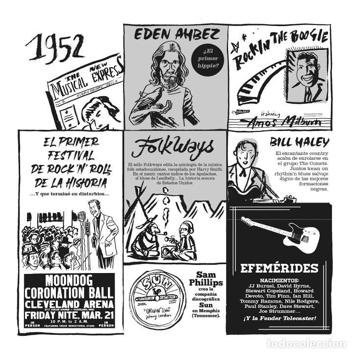 Cómics: Cómics. EL PEQUEÑO LIBRO DEL ROCK. EDICIÓN AMPLIADA - Hervé Bourhis (Cartoné) - Foto 5 - 266885259