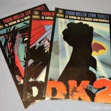 Comics: 3 TOMOS BATMAN EL SEÑOR DE LA NOCHE CONTRAATACA FRANK MILLER LYNN VARLEY DC NORMA EDITORIAL. Lote 267710494