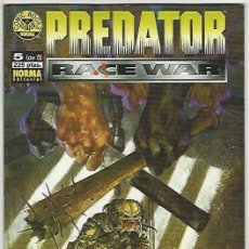 Comics: NORMA. PREDATOR RACE WAR. 5. Lote 271162608