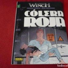 Cómics: COLERA ROJA LARGO WINCH 18 ( FRANCQ VAN HAMME ) ¡MUY BUEN ESTADO! NORMA TAPA DURA. Lote 274524643