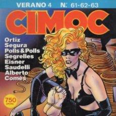 Cómics: CIMOC VERANO Nº 4 (RETAPADO CON LOS NUMEROS 61 A 63) NORMA - BUEN ESTADO - SUB02M. Lote 276085378
