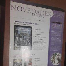 Cómics: BOLETIN NOVEDADES NORMA FEBRERO 2002. POSTER DE THE SANDMAN EN MEDIO. BUEN ESTADO. DIFICIL. Lote 277200048