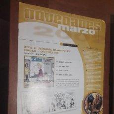 Cómics: BOLETIN NOVEDADES NORMA MARZO 2002. POSTER DE BATMAN HARLEY QUINN EN MEDIO. BUEN ESTADO. DIFICIL. Lote 277200108