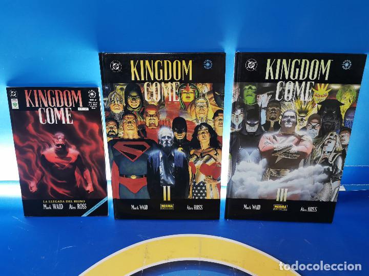 COMICS KINGDOM COME - ED. NORMA Y VID - 3 TOMOS OBSERVA LAS FOTOS (Tebeos y Comics - Norma - Otros)