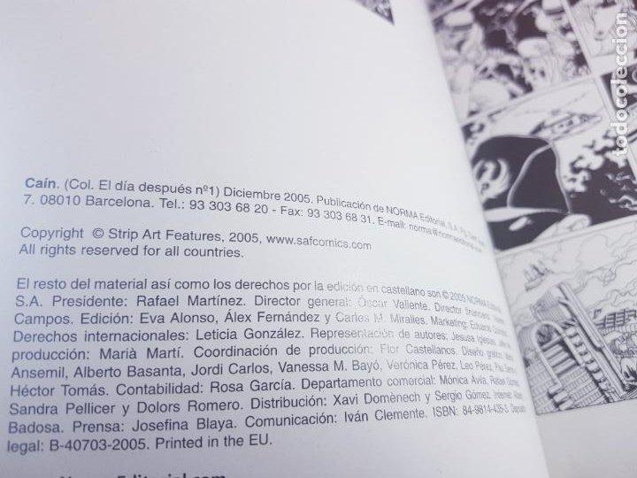 Cómics: COMIC-CAÍN-Nº1-BARREIRO Y RISSO-NORMA EDITORIAL-EL DÍA DESPUÉS-COLECCIONISTAS-2005-EXCELENTE - Foto 12 - 279328223