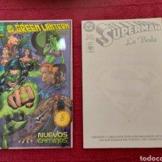 Cómics: SUPERMAN LA BODA DC EDITORIAL VID//GREEN LANTERN NUEVOS CAMINOS DC NORMA EDITORIAL- COMICS DC. Lote 279404818