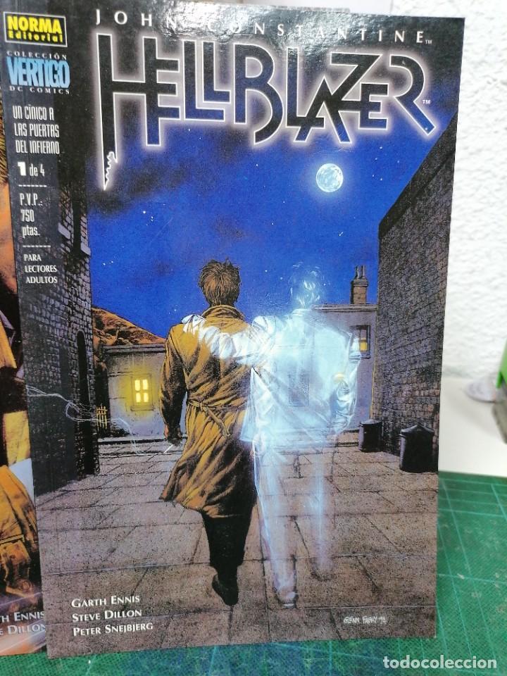 HELLBLAZER. 85,87,90, 95. UN CÍNICO EN LAS PUERTAS DEL INFIERNO 1 A 4 (Tebeos y Comics - Norma - Comic USA)