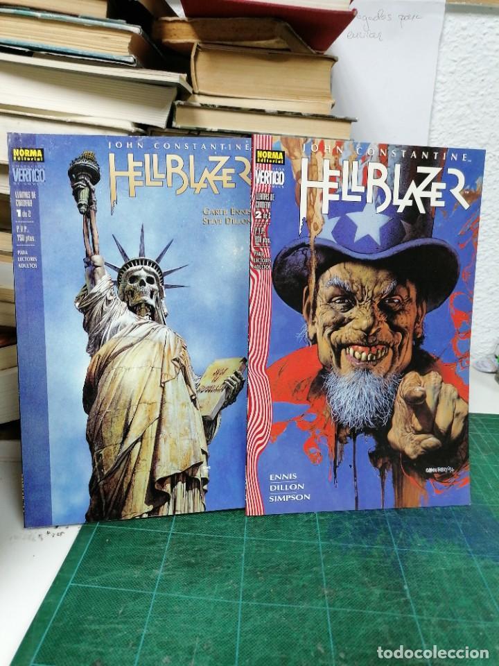 HELLBLAZER. 70 Y 72. LLAMAS DE CONDENA 1 Y 2 (Tebeos y Comics - Norma - Comic USA)