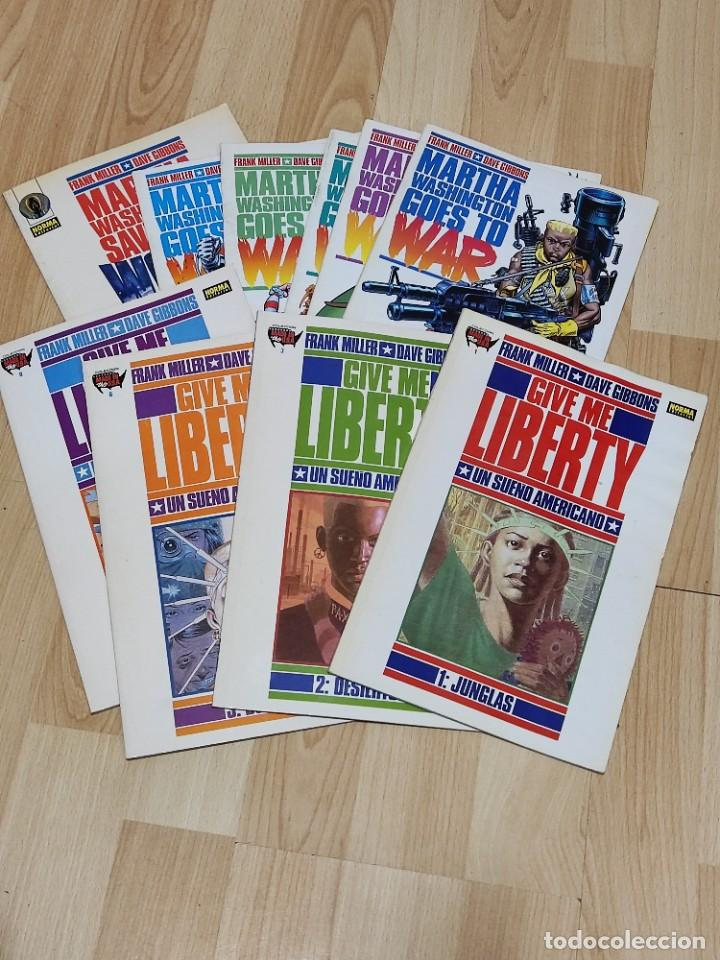 GIVE ME LIBERTY+MARTA WASHINGTON GOES TO WAR+MARTA WASHINGTON SAVES THE WORLD.3 SERIES COMPLETAS (Tebeos y Comics - Norma - Comic USA)