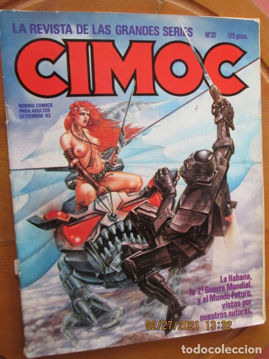 CIMOC Nº 31 - NORMA COMIC PARA ADULTOS - SEPTIEMBRE 1983. (Tebeos y Comics - Norma - Cimoc)