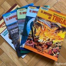 Cómics: EL IMPERIO DE TRIGAN COMPLETA EN 5 ÁLBUMES CIMOC EXTRA COLOR - EXCELENTES. Lote 295494588