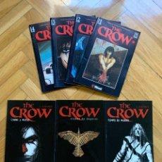 Cómics: THE CROW COMPLETA: MINISERIE DE 4 NºS + CIUDAD DE ÁNGELES + CARNE Y HUESO + TIEMPO DE MUERTE. Lote 295508543