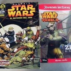 Cómics: STAR WARS,LOTE DE 2 COMIC,EL RETORNO DEL JEDI Y ZEB AL RESCATE. Lote 297085808